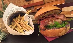 FEEL Hamburger Gourmet: Menú de hamburguesa para 2 o 4 personas con entrante, bebida y postre desde 14,90 € en FEEL Hamburger Gourmet