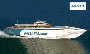 Baleària: Cupón dto. 50% para ferry Ibiza, Menorca , Valencia y Barcelona en butaca o camarote para adultos o adultos desde 2,99 €