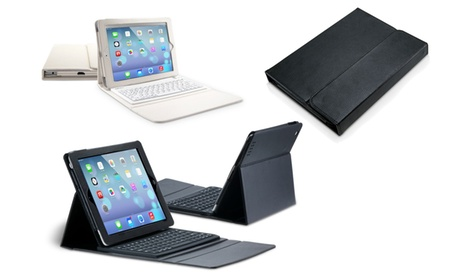 Funda de cuero sintético Avanca con teclado integrado para iPad o Galaxy Tab disponible en color blanco o negro Oferta en Groupon