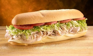 Jersey Mike's Subs: Subs, Wraps, Sides, and Drinks at Jersey Mike's Subs (Up to 40% Off). Three Options Available.