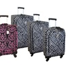 Jenni Chan Softside Spinner Luggage Set (3-Pieces)