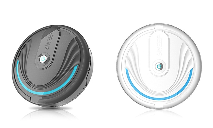 One or Two Battery-Powered or Rechargeable Cordless Robot Sweeper
