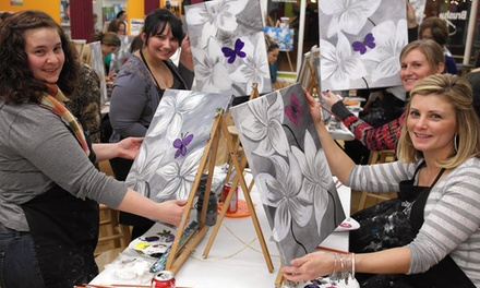 $25 for a 2.5Hour Painting Class for One at Brush It Off Paint & Sip Bar ($35 Value)