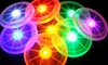 Frisbee con LED multicolore