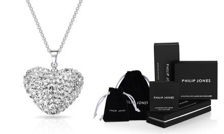 1 ou 2 colliers avec pendentif en forme de cœur Philip Jones