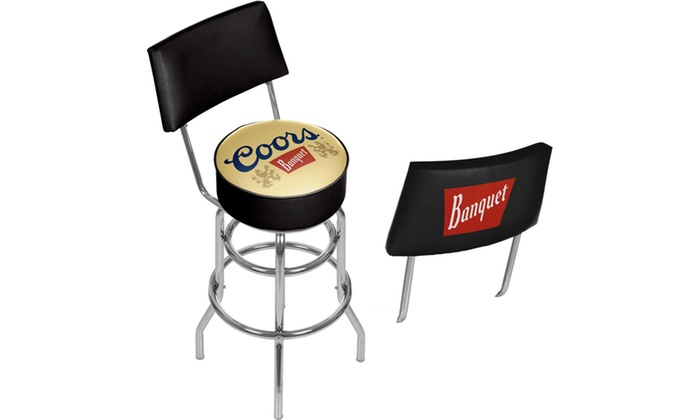 33 Off On Beer Brand Swivel Bar Stools Groupon Goods