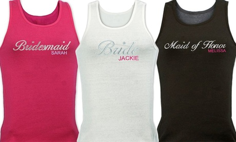 Juniors' Custom Embroidered Bridal Party Tank Tops (Up to 55% Off) 77d41f4a-d022-40fc-8186-de5ae7edff3f