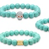 Genuine Turquoise Stretch Bracelets by Steeltime