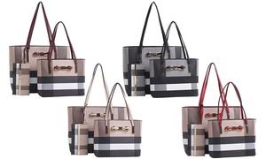 Nia Plaid Handbag Set (3-Piece)