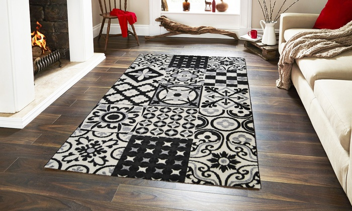 tapis carreaux de ciment groupon shopping. Black Bedroom Furniture Sets. Home Design Ideas
