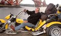 One-Hour Trike Tour and Photoshoot for Two at a Choice of Six Locations with Booking Tours Scotland (60% Off)