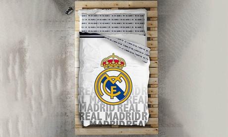Juego de funda nórdica de 2 piezas Real Madrid y Fútbol Club Barcelona