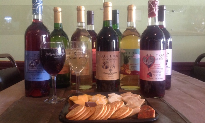 Hilton Vineyard - Windrow: Wine Tasting, Wineglasses, and Cheese Plates at Hilton Vineyard (Up to 44% Off)