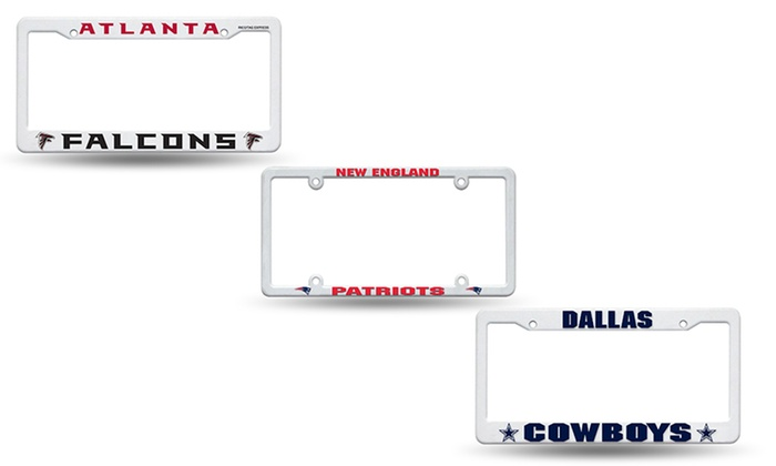 nfl license plate frames