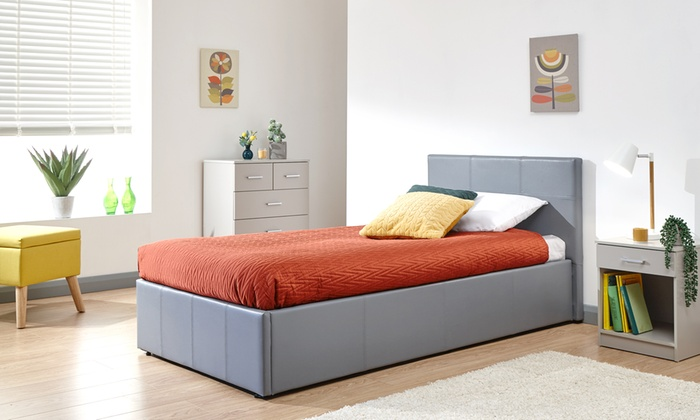 End and Side Opening Ottoman Bed with Optional Bonnell Mattress