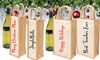 Personalised Jute Wine Bag