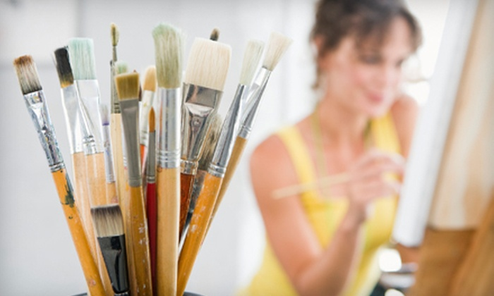 The Art Garden - Lawrenceville: Two-Hour BYOB Painting Class for Two or Four at The Art Garden (Up to 54% Off)