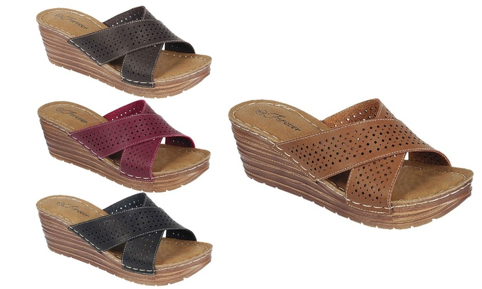 Mata Women's Criss-Cross Wedge Sandals