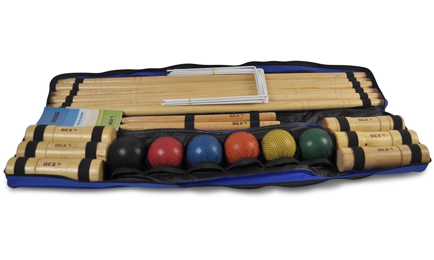 Bex Croquet Pro Six-Mallet Set or Bex Croquet Pro Four-Mallet Set in Wooden Box With Free Delivery