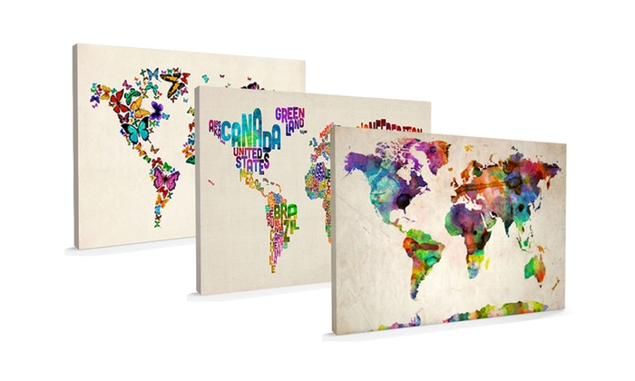 Canvas art map groupon goods canvas art map gumiabroncs Choice Image