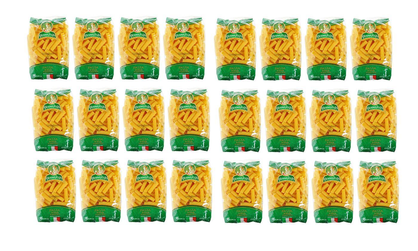 24 Packs of Donnavera Tortiglioni Pasta