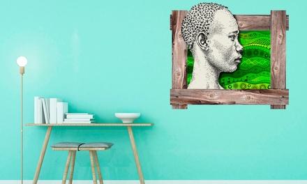 Sticker mural ethnique 3D