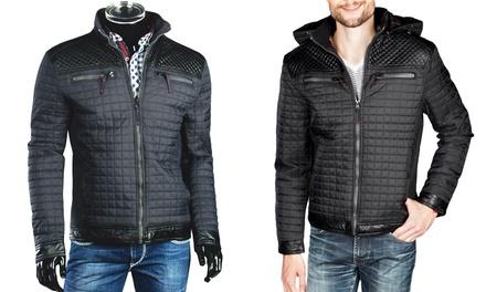 Trisens Herren-Übergangsjacke mit abnehmbarer Kapuze sowie Front- und SeitentascheninSchwarz oderDunkelblau