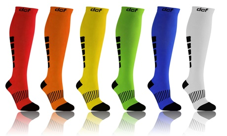 DCF Graduated Mid-Calf Compression Socks for Men and Women (6-Pack)