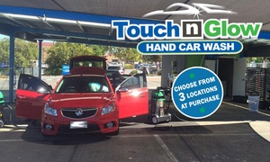 Touch n Glow Hand Car Wash: Car Wash: Outer Touch ($15) or Shining Touch ($49) at Touch 'n' Glow Hand Car Wash, Three Locations (Up to $102 Value)