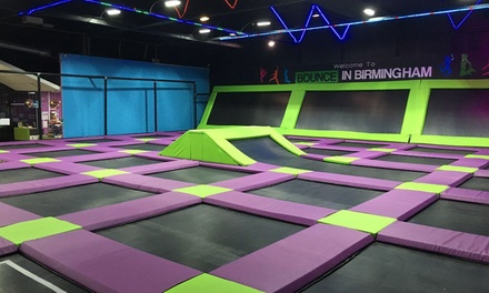Trampoline Party for Ten Kids with a Hot Meal and Drinks at Bounce in Birmingham