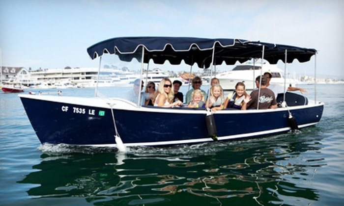 Adventures Boat Rentals - West Newport Beach: 90-Minute Electric-Boat Rentals for Up to 12 People at Adventures Boat Rentals in Newport Beach