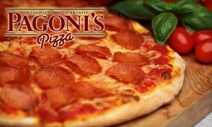 Pagoni's Pizza - Multiple Locations: $9 for $18 Worth of Pizzas, Calzones, and Pasta at Pagoni's Pizza