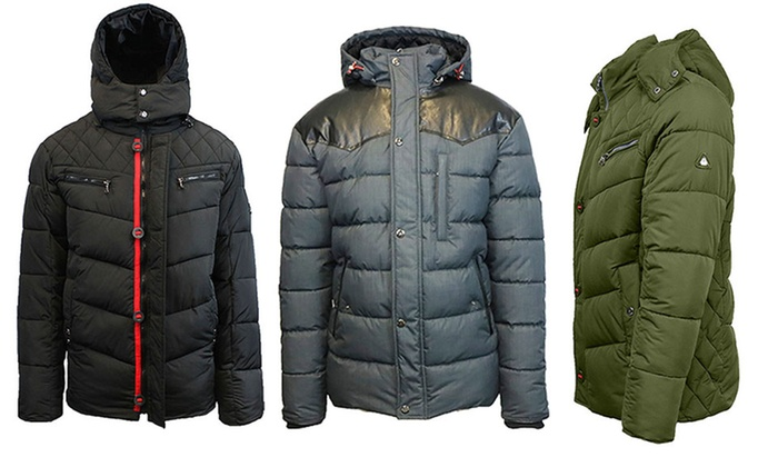 Men's Heavyweight Quilted Parkas and Puffer Jackets