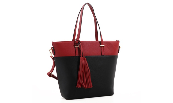 MKF Collection Tassel Tote Bags by Mia K Farrow. Multiple Styles Available.