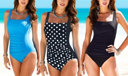 Womens Retro Style Tummy Control Swimsuit