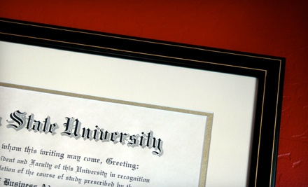 Framing of any Size Diploma (a $280 value) - Crystal Framing Gallery in Arlington