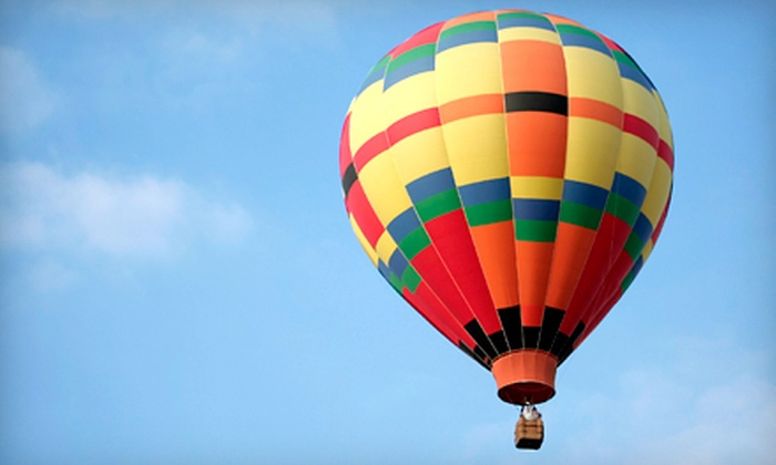 Balloon AD-Ventures - Orchard Hill: $299 for a Hot Air Balloon Flight for Two with a Traditional Toast from Balloon AD-Ventures ($550 Value)