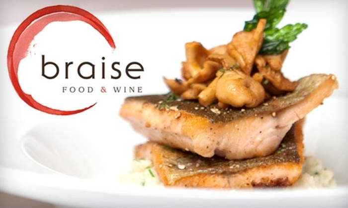 Braise Food & Wine - Central London: $25 for $50 Worth of Upscale Cuisine and Drinks at Braise Food & Wine