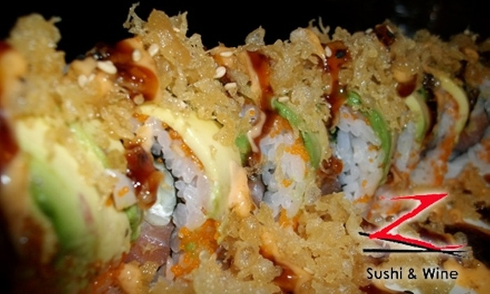 Z Sushi & Wine Bar - Missouri City: $10 for $20 Worth of Sushi at Z Sushi & Wine Bar in Missouri City