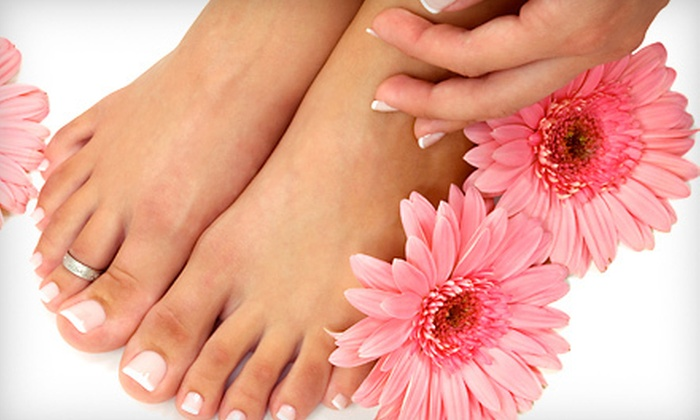 Mocha J. Nail Salon & Spa - Kansas City: Regular or Deluxe Mani-Pedi, or Deluxe No-Chip Manicure and Deluxe Pedicure at Mocha J. Nail Salon & Spa (Up to 53% Off)