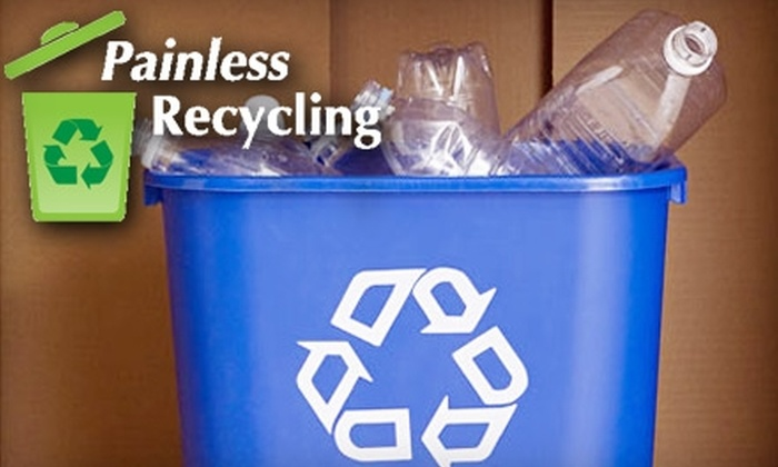 Painless Recycling - Lubbock: $10 for Four, Weekly Recycling Pickups by Painless Recycling ($20 value)