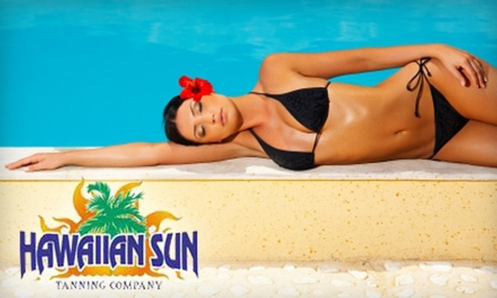 Hawaiian Sun Tanning Company - Multiple Locations: $20 for $60 Worth of Tanning or Two VersaSpa Spray Tan Sessions (Up to a $70 Value) at Hawaiian Sun Tanning Company