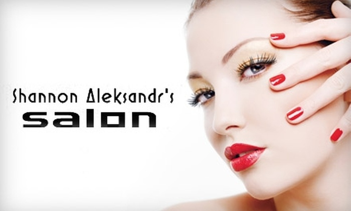 Shannon Aleksandr's Salon - Evansville: $37 for an Advanced-Treatment Facial ($74 Value) or $34 for a Spa Mani-Pedi with Paraffin Treatment (Up to $68 Value) at Shannon Aleksandr's Salon
