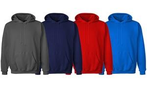 Men's Solid Fleece Pullover Hoodie (2-Pack)