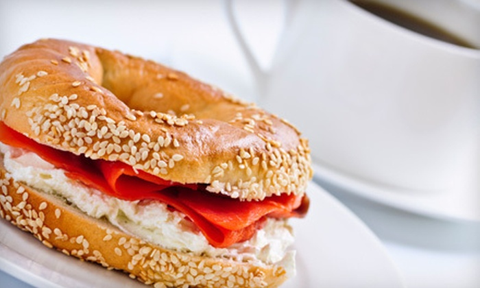Mamá Art Cafe - Mission Terrace: $17 for a Five-Visit Bagel Sandwich and Coffee Punch Card at Mamá Art Cafe (Up to $35 Value)