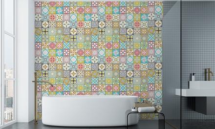 Malia Colourful Bathroom Wall Tile Stickers