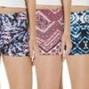 Women's High-Waist Printed Hot Shorts (4-Pack)