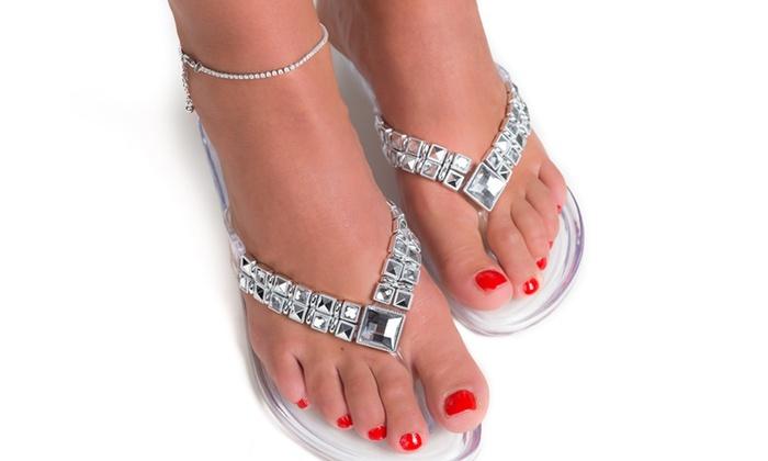 Groupon Goods Global GmbH: Fußkettchen verziert mit Kristallen von Swarovski®