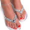 Fußkettchen mit Kristallen