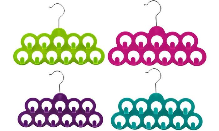 Home Basics Velvet Scarf Hanger with Hooks (3-Pack): Home Basics Velvet Scarf Hanger with Hooks (3-Pack)
